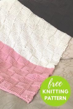 Neapolitan Baby Blanket Free Knitting Pattern