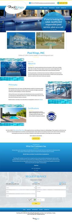 Website Design for Frisco Texas based Pool Kings Inc