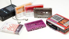 Blackberry purple, cocoa brown, retro orange, tangerine and red cassettes with on-body black printing in a retro design with old-school style custom J-cards Produced by Pragmatic Theory Vinyl Style, School Style, Retro Design, Blackberry, Theory, Cocoa, Printing, Cassette Tape, Band