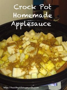 Homemade Applesauce and My New Favorite Snack