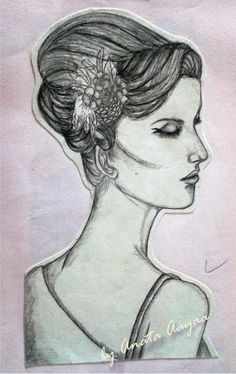 "My Sketch for Gambar model 1 courses ""Side face look"""