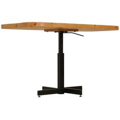 Rectangular Height Adjustable Table By Charlotte Perriand For Les Arcs | From a unique collection of antique and modern side tables at http://www.1stdibs.com/furniture/tables/side-tables/