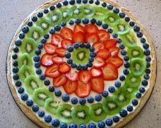 Fruit Pizza :) So pretty