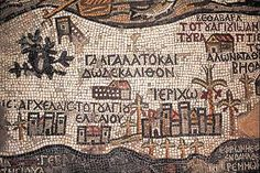 """Mosaic """"map"""" of the """"Holy Lands"""""""