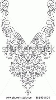 Folk Embroidery Patterns Hungarian folk art - buy this vector on Shutterstock