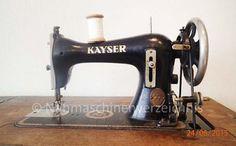Kayser J, šicí stroj s rovným stehem s úchytem CB, výrobce: Gebrüder Kayser AG, Kaiserslautern (fotografie: B. Schlappa)