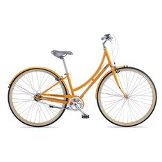V3 Bicycle Standard Orange  by PUBLIC    I like this bike because it looks like I could wear dresses and heels while using it to ride to work... maybe