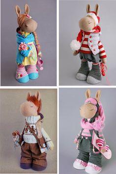 Horse doll Tilda doll Spring doll Art doll Purple doll Soft doll Cloth doll Fabric doll Baby doll Nursery doll Collectable doll by Alena R __________________________________________________________________________________________ Hello, dear visitors! This is handmade soft doll