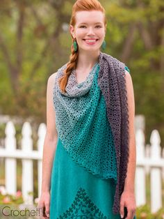This Spring 2019 issue of Crochet! magazine gives you full-color photos, complete instructions, and how-to articles and techniques. Crochet Shawl, Cool Designs, Crochet Magazine, Summer, How To Wear, Shawls, Color, Patterns, Detail
