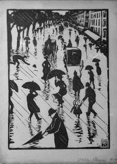 woodblock print by Walther Klemm (1883 - 1957)