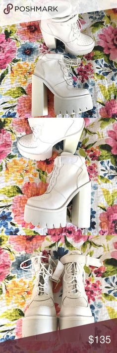 Jeffrey Campbell Pole Vault Platform Sneakers Absolute awesomeness! Has minor markings (photographed), in otherwise new condition! Does not come with box. Jeffrey Campbell Shoes Platforms