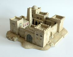 North African & Middle Eastern Castle/Fort Walls from Total Battle Miniatures Minecraft Medieval, Medieval Castle, Medieval Fantasy, Gothic Buildings, Minecraft Construction, Minecraft Blueprints, Wargaming Terrain, Modelos 3d, Fantasy Castle