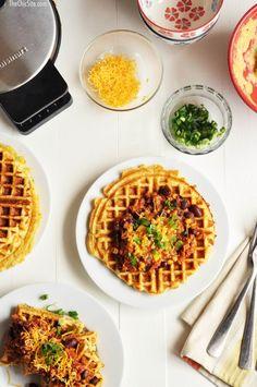 Cornbread and Chili Waffles