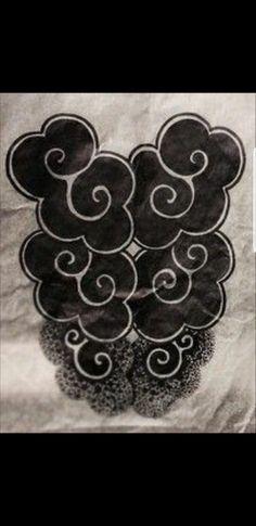 Cloud Tattoo Sleeve, Black Cloud Tattoo, Sleeve Tattoos, Future Tattoos, New Tattoos, Cool Tattoos, Maori Tattoos, Asian Tattoos, Black Tattoos