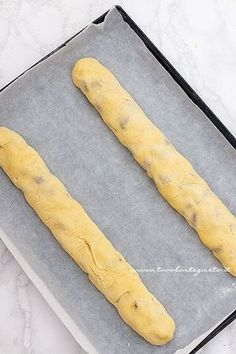 Filoncini pronti da infornare - Ricetta Cantucci Italian Pastries, Italian Desserts, Mini Desserts, Italian Recipes, Biscotti Cookies, Almond Cookies, Lemon Drop Cookies, Chocolate Chip Pudding Cookies, Flourless Cake