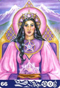 66 Queen of Pentacles ペンタクルのクィーン