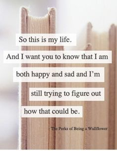 The Perks of Being a Wallflower. If you haven't read this book yet, do yourself a favor and read it. It changes you.
