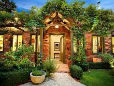 Gorgeous home with lush vegetation