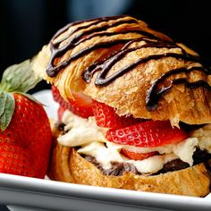 Pastry Cream Filled Croissant Love