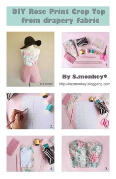 Great tutorial for an easy crop top. Can't wait for warm weather! Diy Clothing, Sewing Clothes, Clothing Patterns, Sewing Patterns, Sewing Crafts, Sewing Projects, Diy Crafts, Diy Crop Top, Do It Yourself Fashion