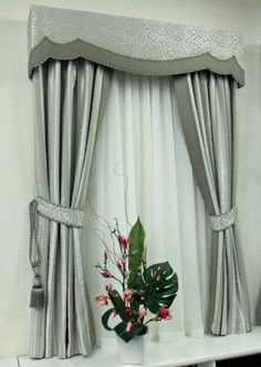sawade store curtain display warwick fabrics hydrangea and sybill with padded pelmet and