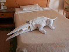 Funny crocodile  on my bed