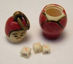 Russian Doll charm opens to Dice - Sandys Vintage Charms