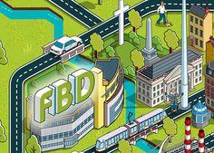 FBD Insurance Dublin Map Advertising Campaign on Behance