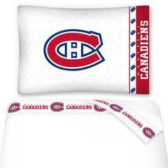 NHL NHL Montreal Canadiens Hockey Twin Bed Sheet Set