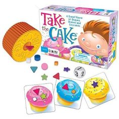 Take The Cake-- kiddo loves this game. Found it for a couple of dollars.