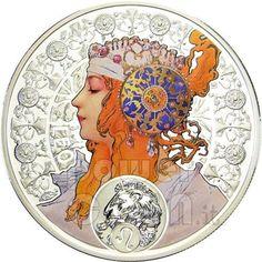Leo Zodiac Silver Coin