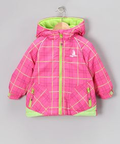 Pink Plaid Ski Jacket - Toddler   Girls 87dabb151