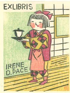 .MAEKAWA, Sempan, Japan - bookplate for Irene D. Pace