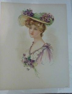 victorian lady purple dress prints | Victorian Lady Prints