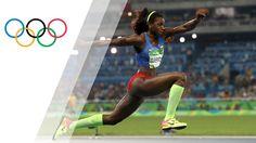 Caterine Ibargüen Mena es la atleta de Colombia. Ella obtuvo la medalla de oro en los Juegos Olímpicos en 2016. También, ella obtuvo la medalla de plata en el evento de triple salto en 2012. En ese video, Caterine saltó más lejos que sus competidores. Caterine es muy consumado y gana frecuentemente.