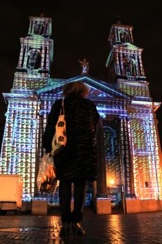 #videomapping Mozes en Aäronkerk church. Amsterdam Light Festival 2014.