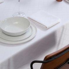 Tafelkleed Rombus, damast katoen, kleur wit ,DDDDD, tafellaken  #paasontbijt