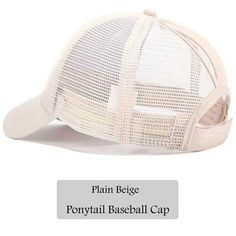 df9208258039e Dad Hat CC Ponytail Snapback Baseball Cap Messy Bun Caps For Women Female  Summer Mesh Trucker Hat 2018 Girl Hip Hop Hats