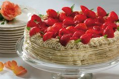 Juhlava mansikkakakku   Täytekakut   Pirkka Cheesecake, Desserts, Food, Tailgate Desserts, Deserts, Cheesecakes, Essen, Postres, Meals