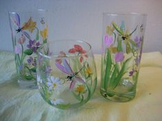 Set of 12 glasses and matching pitcher by TivoliGardens on Etsy