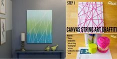 Canvas String Art Graffiti – fun for kids and adults alike