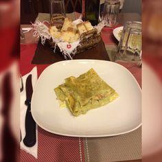 Lasagna con pesto e noci
