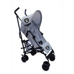Oakland Raiders Gray Umbrella Stroller