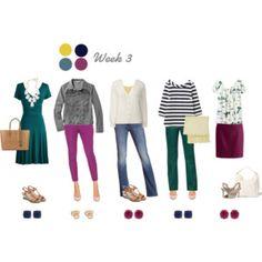 Work Capsule Wardrobe 3: Berry, Teal & Navy
