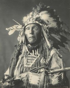 """Retronaut - Chief Shot-in-the-eye, 1899. """"Shot-in-the-Eye was an Oglala Sioux who fought in the Battle of the Little Bighorn in 1876, where he was wounded and lost an eye. What he was called prior to this battle is unknown.""""  - Peter Ward"""