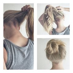 Thick long hair bothering you? Want it off your neck?? this is a super rad solution.