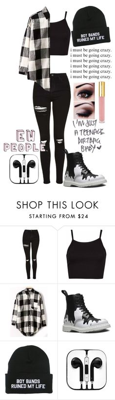 """""""Untitled #187"""" by nobod-y on Polyvore featuring Topshop, Dr. Martens and Isaac Mizrahi"""