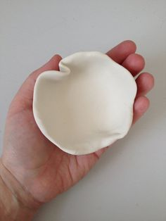 White minimalist sculpted ploymer clay bowl white by sweetstellas, $15.00
