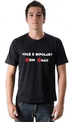 Dica #palcofashion #Camiseta - Bipolar 02 #moda #fashion