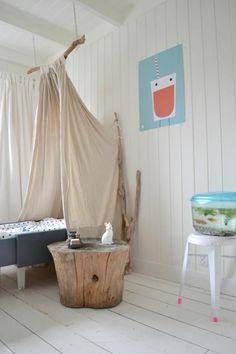 babyzimmer im landhausstil - himmel - babybett